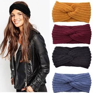 Knitted Knot Winter Headband *4 colors